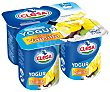 Yogur con sabor a vainilla, elaborado con leche 100% gallega 4 x 125 g Clesa