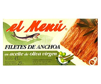 El Menu Filetes de Anchoas en Aceite de Oliva Lata 50 Gramos