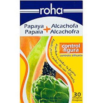Roha Papaya-alcachofa en grageas Bote 30 unid