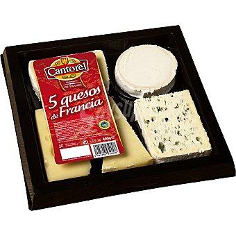 Cantorel Tabla de 5 quesos de Francia Envase 400 g