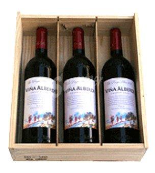 Viña Alberdi Estuche de vino tinto D.O Rioja crianza 3x75 cl