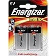 Max pila 9V blister 2 unidades Blister 2 unidades Energizer