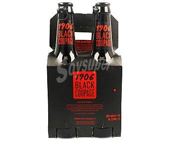 1906 Black Coupage Cerveza negra 4 botellines de 33 cl