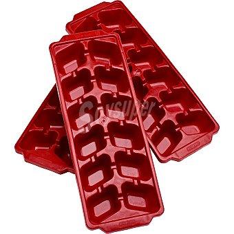 Curver Bandejas para cubitos de hielo color rojo 3 unidades