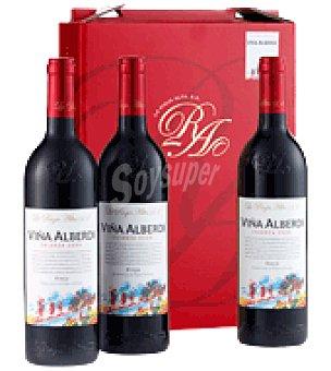 Viña Alberdi Estuche de vino tinto crianza D.O. Rioja pack de 3x75 cl