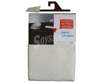 Auchan Protector de mesa, 140x2200 centímetros, color blanco 1 Unidad