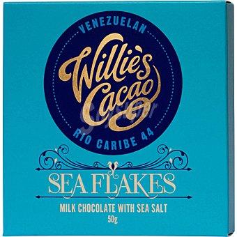 WILLIE'S CACAO Chocolate con leche y escamas de sal Tableta 50 g