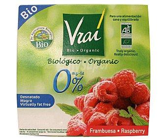 Vrai Yogur Desnatado 0% Frambuesa Ecológico 4x100g