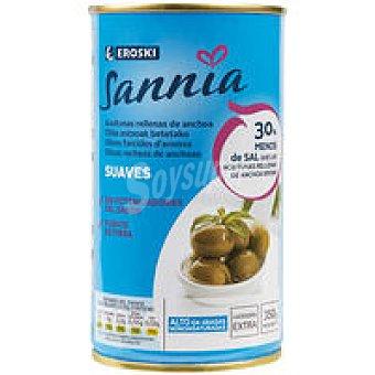 Eroski Sannia Aceituna rellena baja en sal Lata 150 g