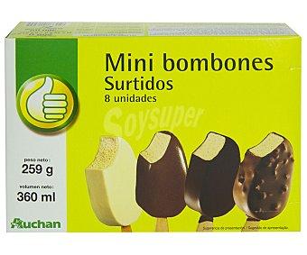 Productos Económicos Alcampo Mini bombones helados de diferentes sabores 8 unidades de 45 mililitros
