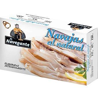 El navegante Navajas al natural Lata 63 g neto escurrido