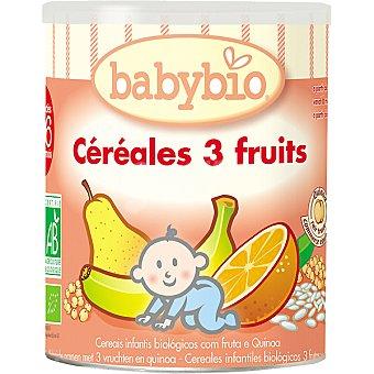 BABYBIO Papilla cereales a las tres frutas Envase 220 g