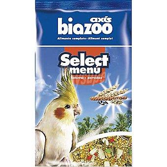 BIOZOO AXIS SELECT MENU alimento completo para cotorras envase 1 kg