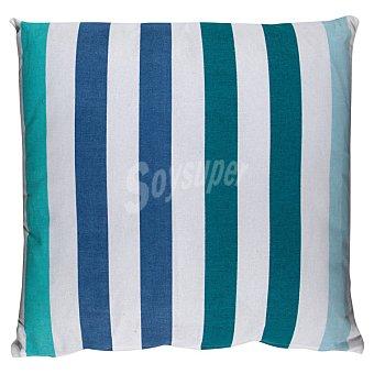 Casactual Cojin con rayas azules y verdes 1 unidad