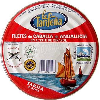 LA TARIFEÑA Filetes de caballa de Andalucía en aceite de girasol Lata 357 g