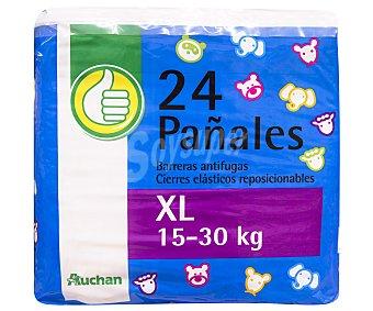 Productos Económicos Alcampo Pañales de la talla XL, para niños de 15 a 30 kilos 24 uds