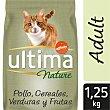 Pienso para gatos adultos a base de pollo, cereales y legumbres Bolsa 1,25 kg Ultima Affinity