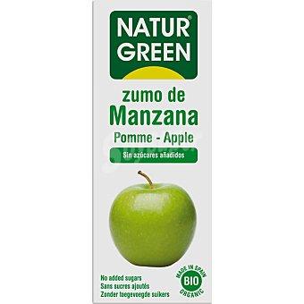 Naturgreen Bio zumo de manzana ecologico sin azucares añadidos  brik 600 ml