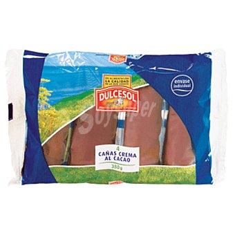 Dulcesol Cañas crema-choco 4UND 380GR