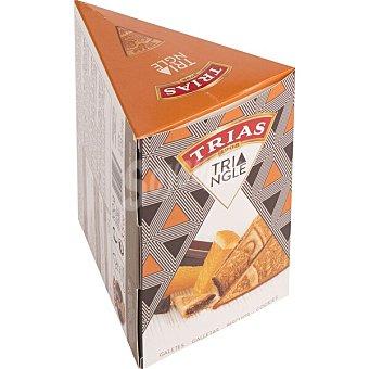 Trias Galletas en triangulo de chocolate con naranja envase 100 G Envase 100 g