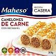 Canelones de carne con bechamel Caja 300 g Maheso