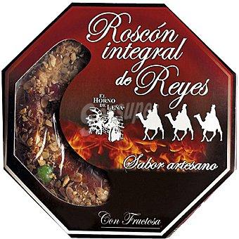 EL HORNO DE LEÑA Roscón integral de reyes con nata vegetal sabor artesano con fructosa Estuche 750 g
