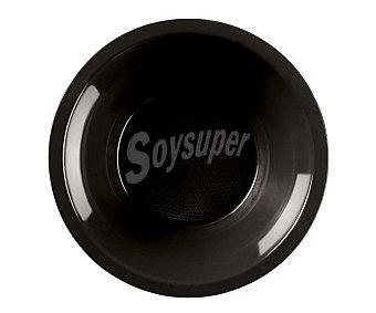 NV CORPORACION Cuencos desechables de plástico color negro, 0,45 litros de capacidad, 14 centímetros de diámetro 0,45 litros