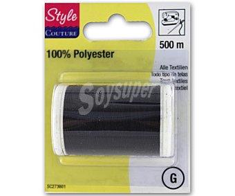 STYLE Hilo de poliéster color negro, 500 metros style