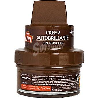 Kiwi Limpia calzado crema 3 en 1 marrón con aplicador Tarro 50 ml