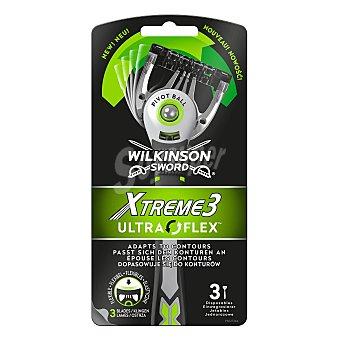 Wilkinson Xtreme3 maquinilla de afeitar desechable Ultra Flex Blister 3 unidades