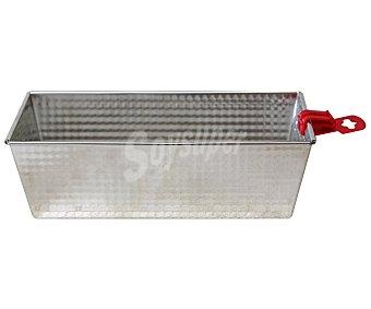 Productos Económicos Alcampo Molde rectangular metálico de 25 centímetros, resistente hasta 200ºC 1 Unidad