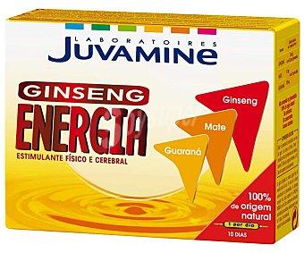 Juvamine Complemento alimenticio de ginseng, guaraná y mate. Tonificante físico y cerebral 10 c
