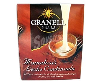 GRANELL Leche condensada monodosis 12 Unidades de 30 Gramos