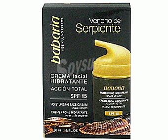 Babaria Crema Facial Hidratante F15 Veneno Serpiente 50ml