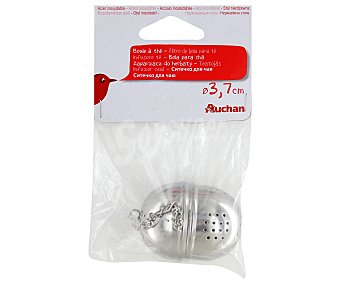 Auchan Filtro de bola para infusiones, 3,7 centímetros 1 Unidad