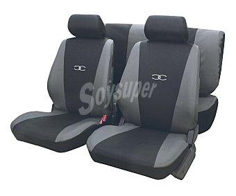 ERMA SUZUKA Juego de fundas para asientos de automóvil de talla única y fabricadas en poliester de color negro y gris Suzuka.