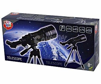 Rik&Rok Auchan Telescopio de 300 Milímetros de Longitud y hasta 225 Aumentos 1 Unidad