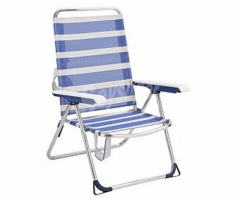 Alco Silla de playa color a rayas azules, alco