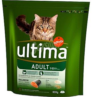 ultima Comida gato adulto salmón, arroz y cereales integrales 800 g