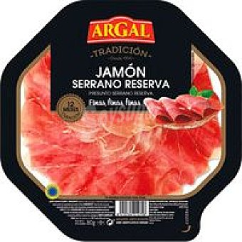 Argal Plato de jamón lonchas finas Bandeja de 90 g