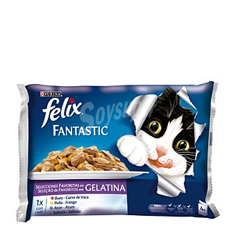 Felix Purina Comida para gatos Fantasic Selección Pack 4x100 gr