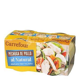 Carrefour Pechuga de pollo natural 2 unidades de 42 g