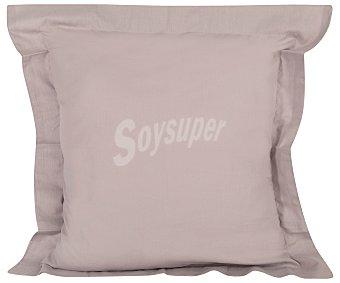 Productos Económicos Alcampo Cuadrante gris 100% algodón con cierre de solapa, 55x55 centímetros alcampo