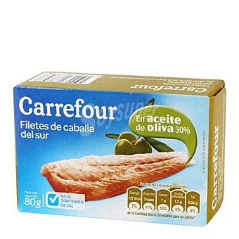 Carrefour Filetes de caballa del sur en aceite de oliva 80 g