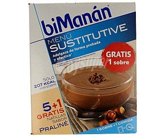 Bimanan Natillas sabor praliné 5 sobres (312 gramos)