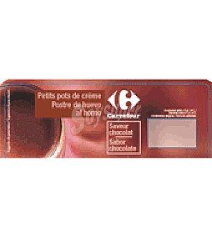 Carrefour Postre de huevo al horno chocolate Pack de 2x100 g