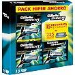 Pack hiper ahorro caja 15 recambio para cuchillas Mach3  Gillette Mach3