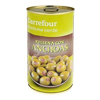 Carrefour Aceitunas manzanilla verdes rellenas de anchoa 150 g