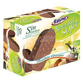 Royne Bombón crocanti special soja sin lactosa 6 ud