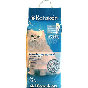 KATAKÁN Absorbente natural calidad extra para gatos bolsa 16 l